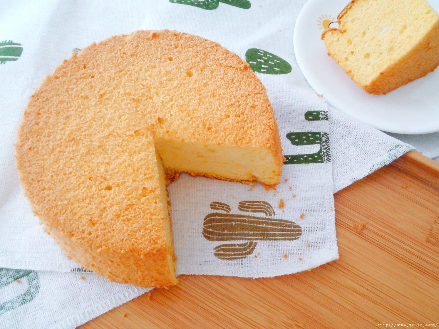 6寸南瓜戚风蛋糕,少糖少油版的做法 步骤16