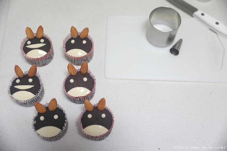 龙猫黑米蒸糕的做法 步骤19