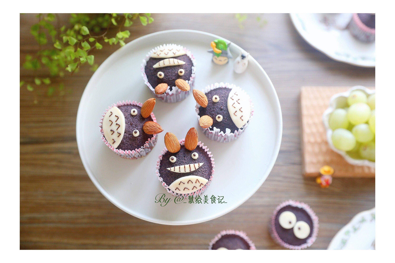 龙猫黑米蒸糕的做法