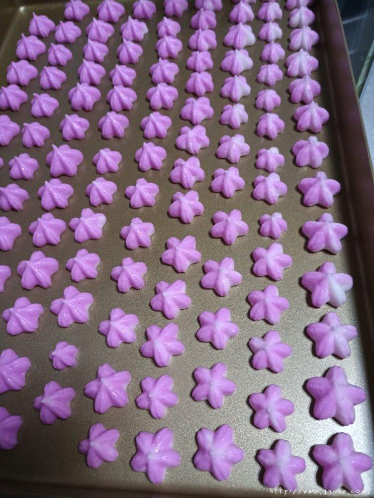 樱花火龙果溶豆(无糖)的做法 步骤6