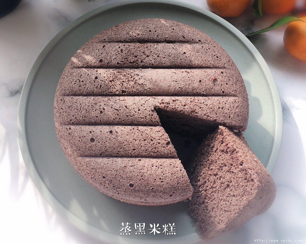 """""""蒸""""的黑米糕的做法 步骤15"""