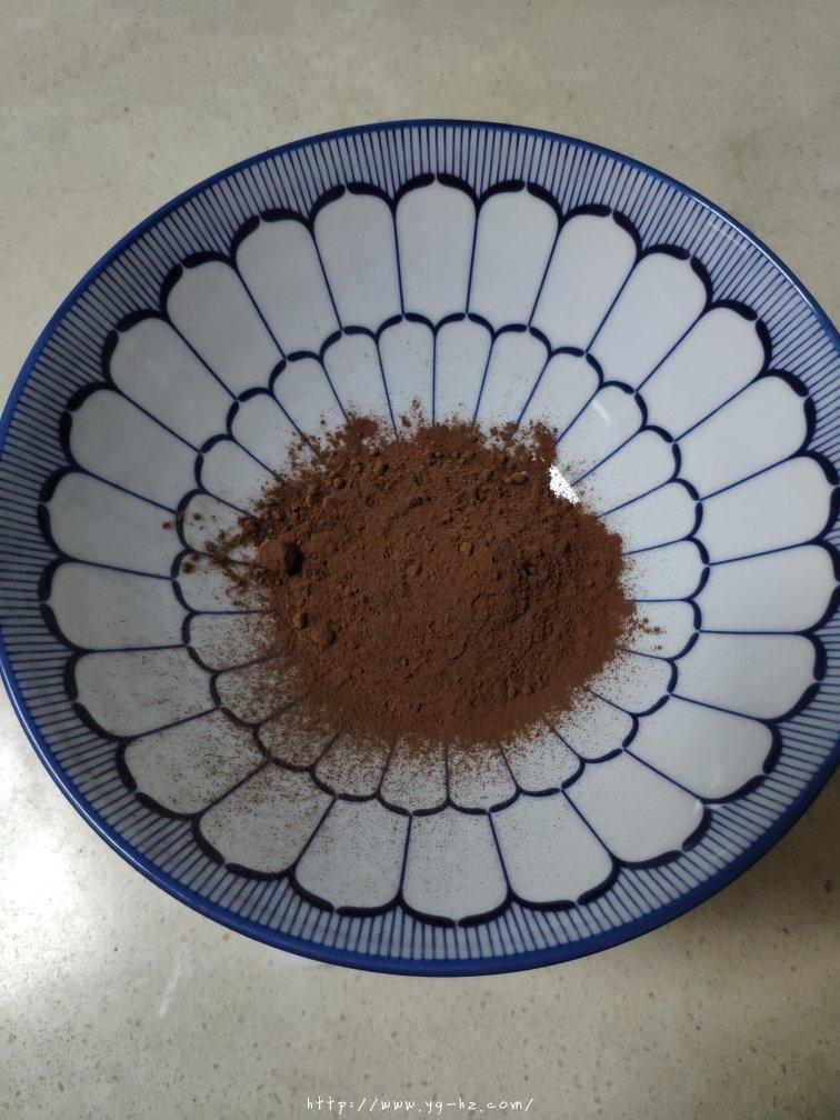 可可戚风(八寸巧克力戚风)的做法 步骤1