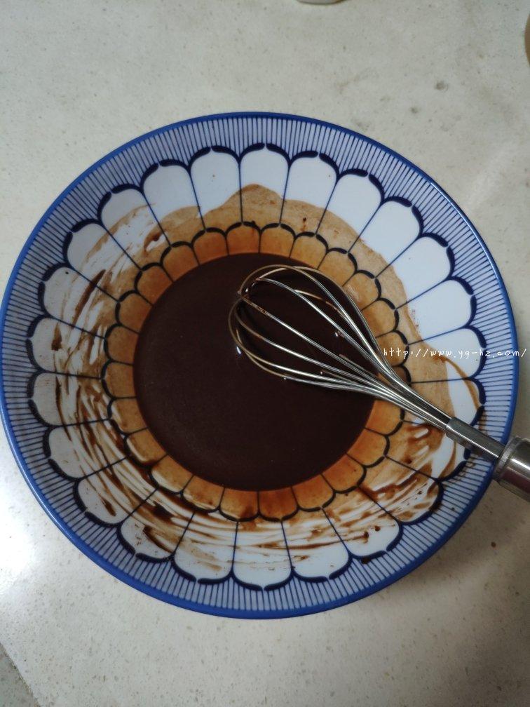 可可戚风(八寸巧克力戚风)的做法 步骤2