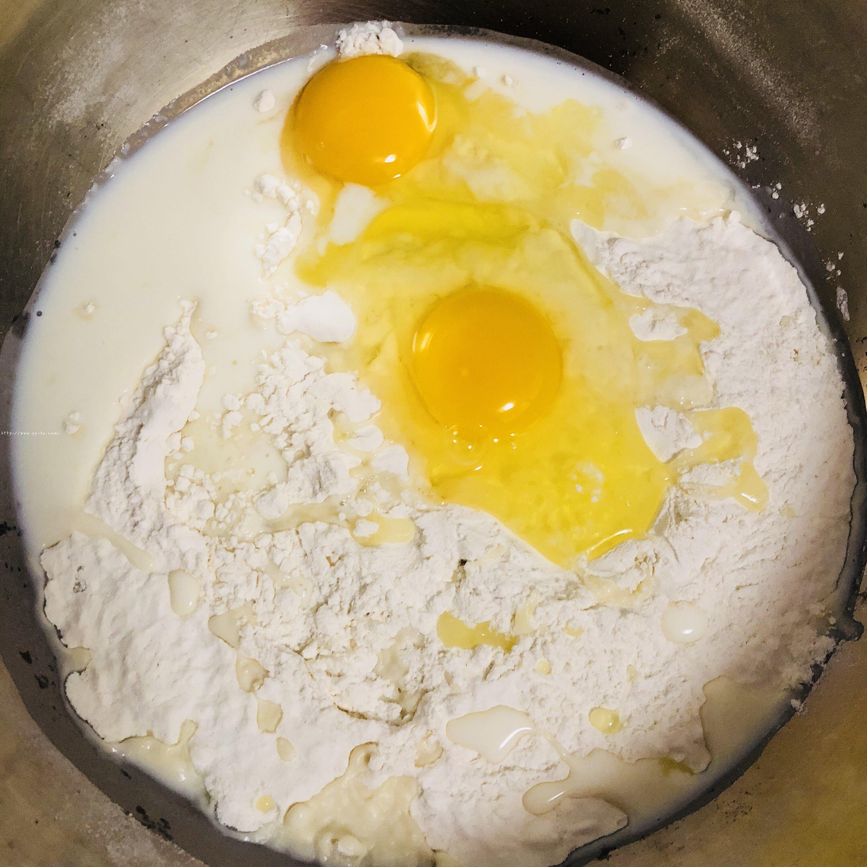 香甜软绵的卡士达夹心面包(后酵母法)的做法 步骤1