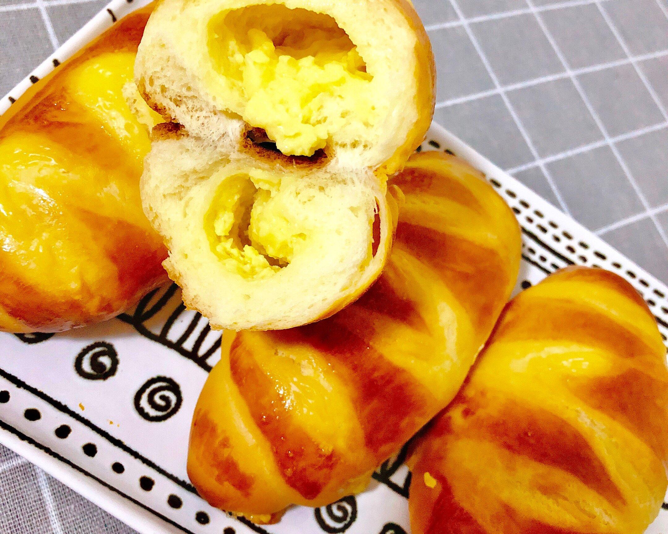 香甜软绵的卡士达夹心面包(后酵母法)的做法 步骤18