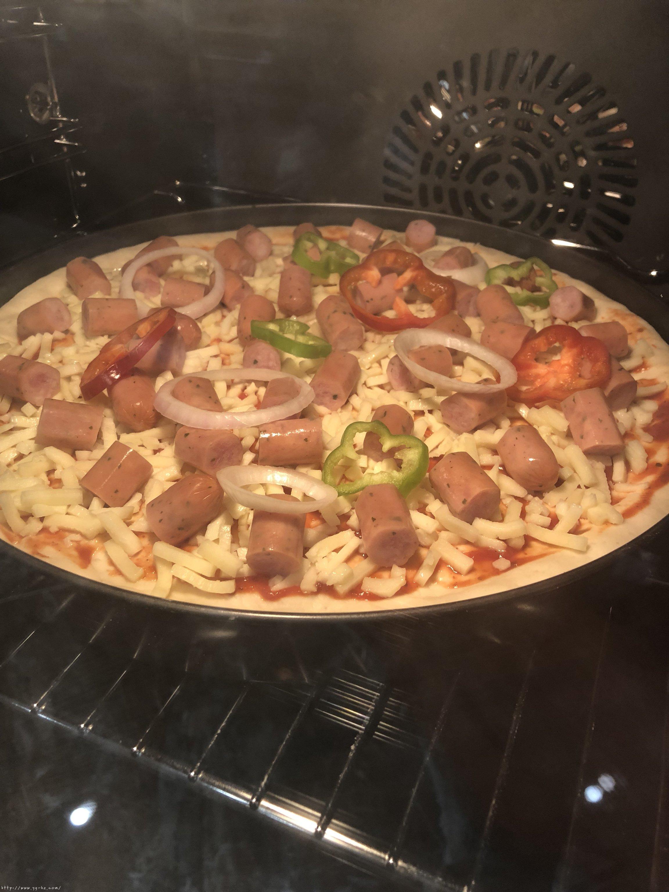 必胜客比萨家庭版~铁盘厚底比萨的做法 步骤19