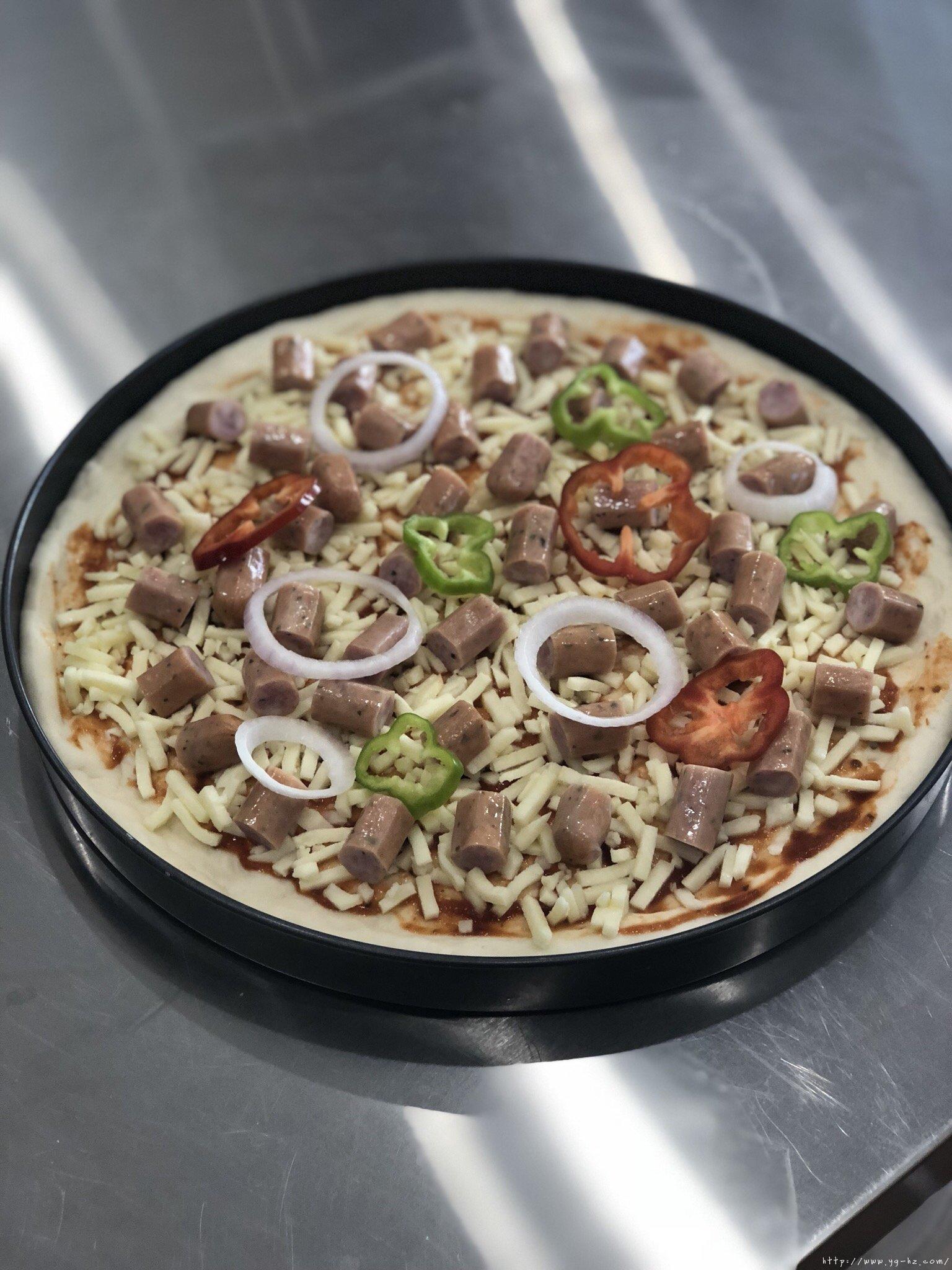 必胜客比萨家庭版~铁盘厚底比萨的做法 步骤18