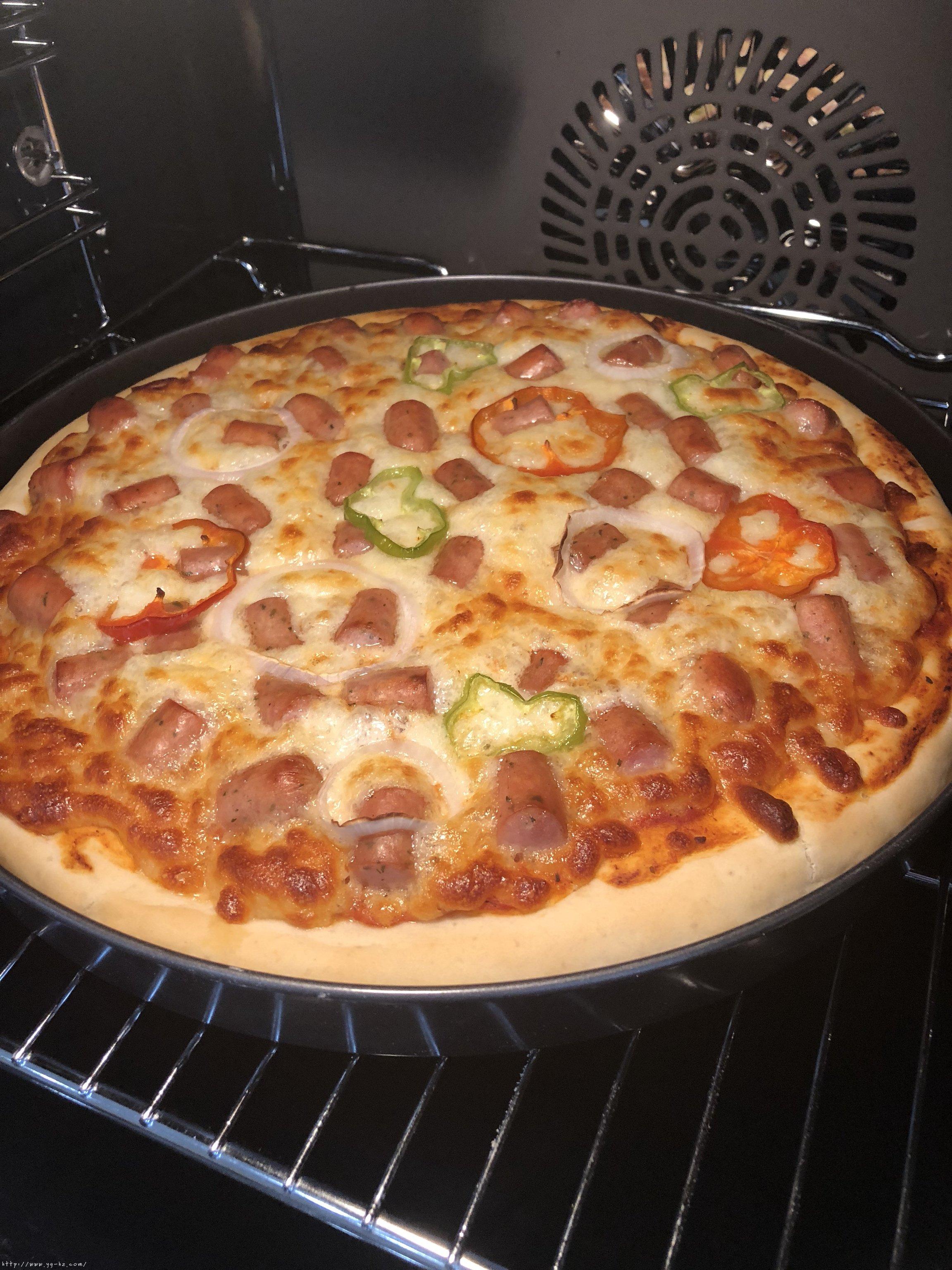 必胜客比萨家庭版~铁盘厚底比萨的做法 步骤20