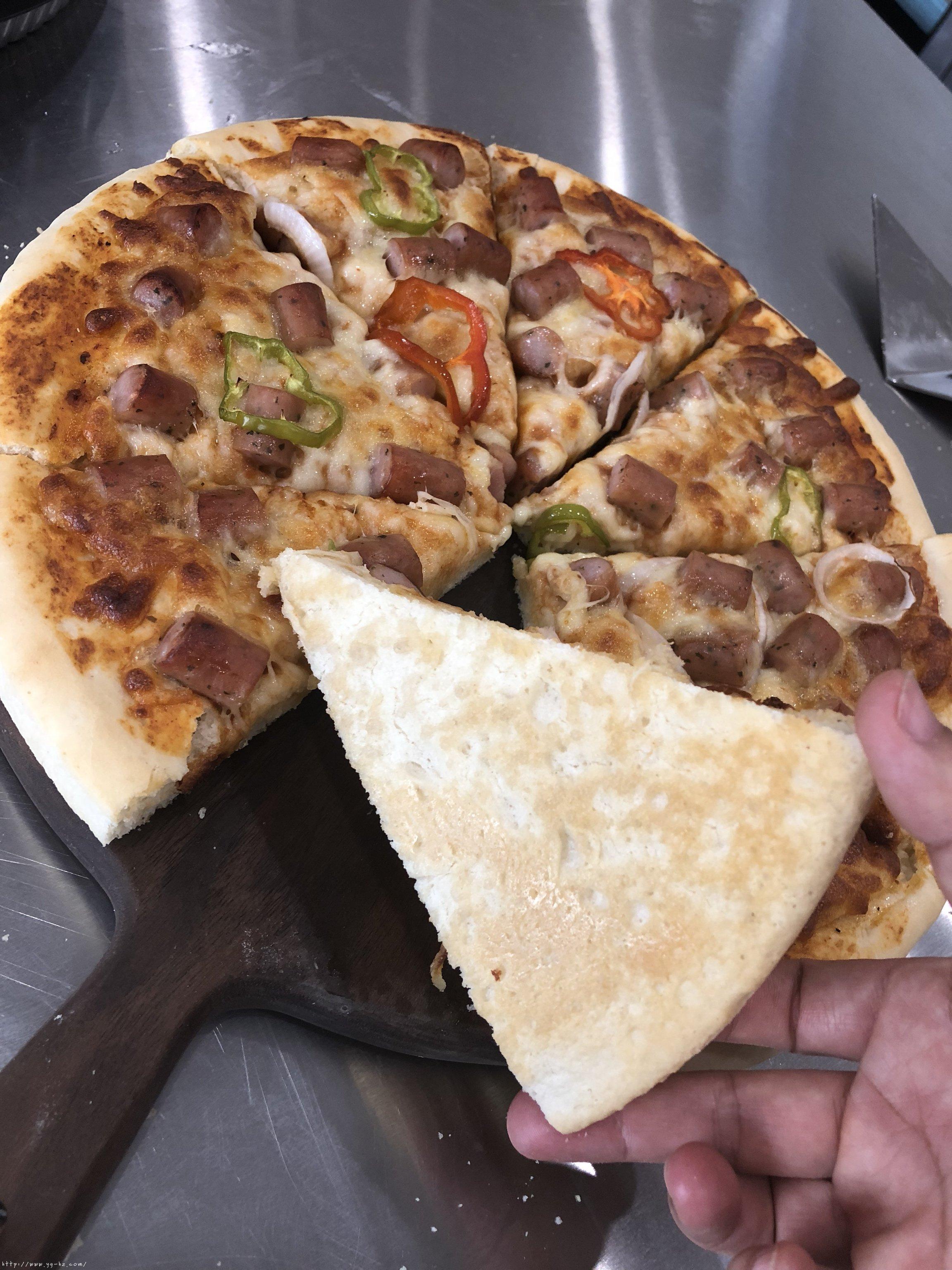 必胜客比萨家庭版~铁盘厚底比萨的做法 步骤24