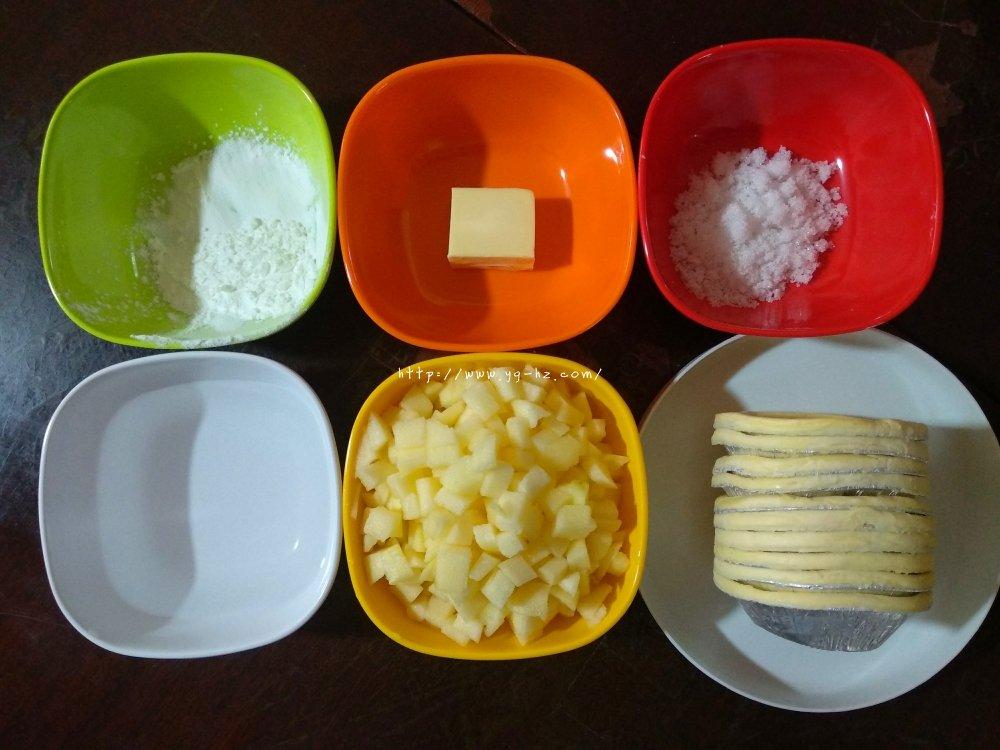 懒人苹果派(蛋挞皮版)的做法 步骤1