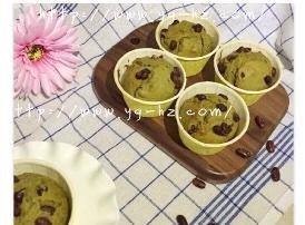 抹茶蜜红豆马芬杯的做法步骤图,怎么做好吃