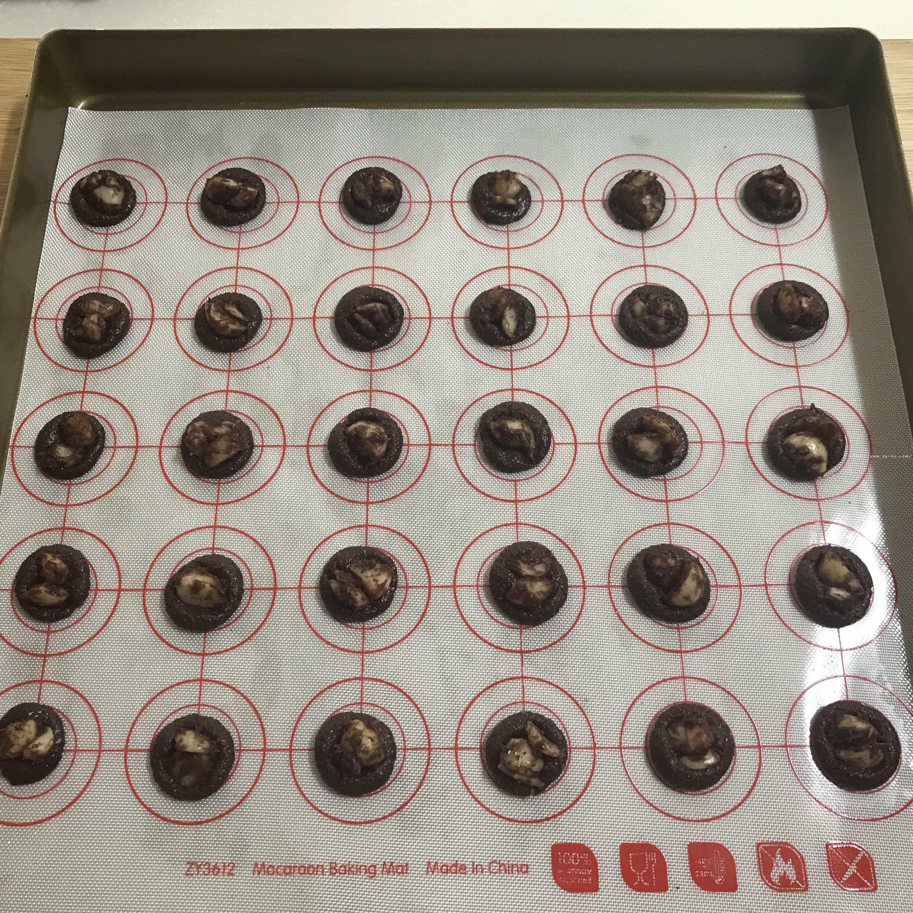 快手零失败巧克力脆片小饼干(消耗蛋清)的做法 步骤12