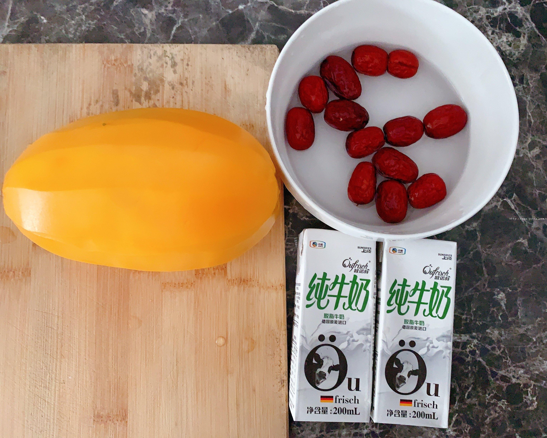 轻松三步,美容又养颜的木瓜红枣炖牛奶的做法 步骤1