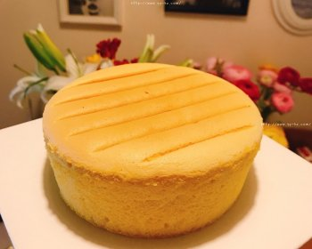 6寸古早蛋糕(一次成功,无需冷却,即刻脱模)的做法步骤图