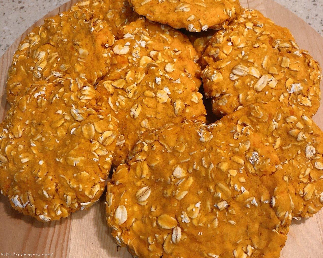 超简单红薯燕麦饼(饱腹+健康+儿童健康副食)的做法