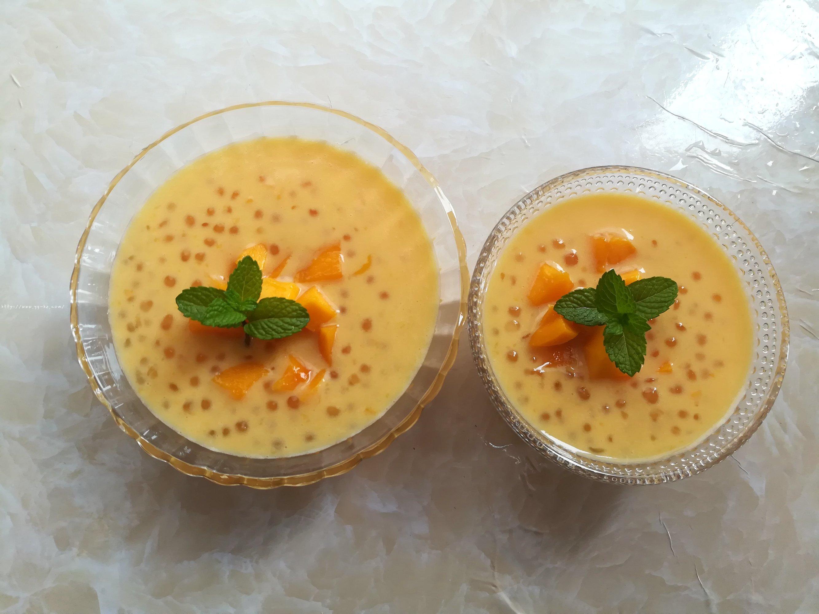 牛奶芒果西米露的做法 步骤9
