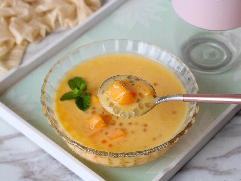 牛奶芒果西米露的做法 步骤11