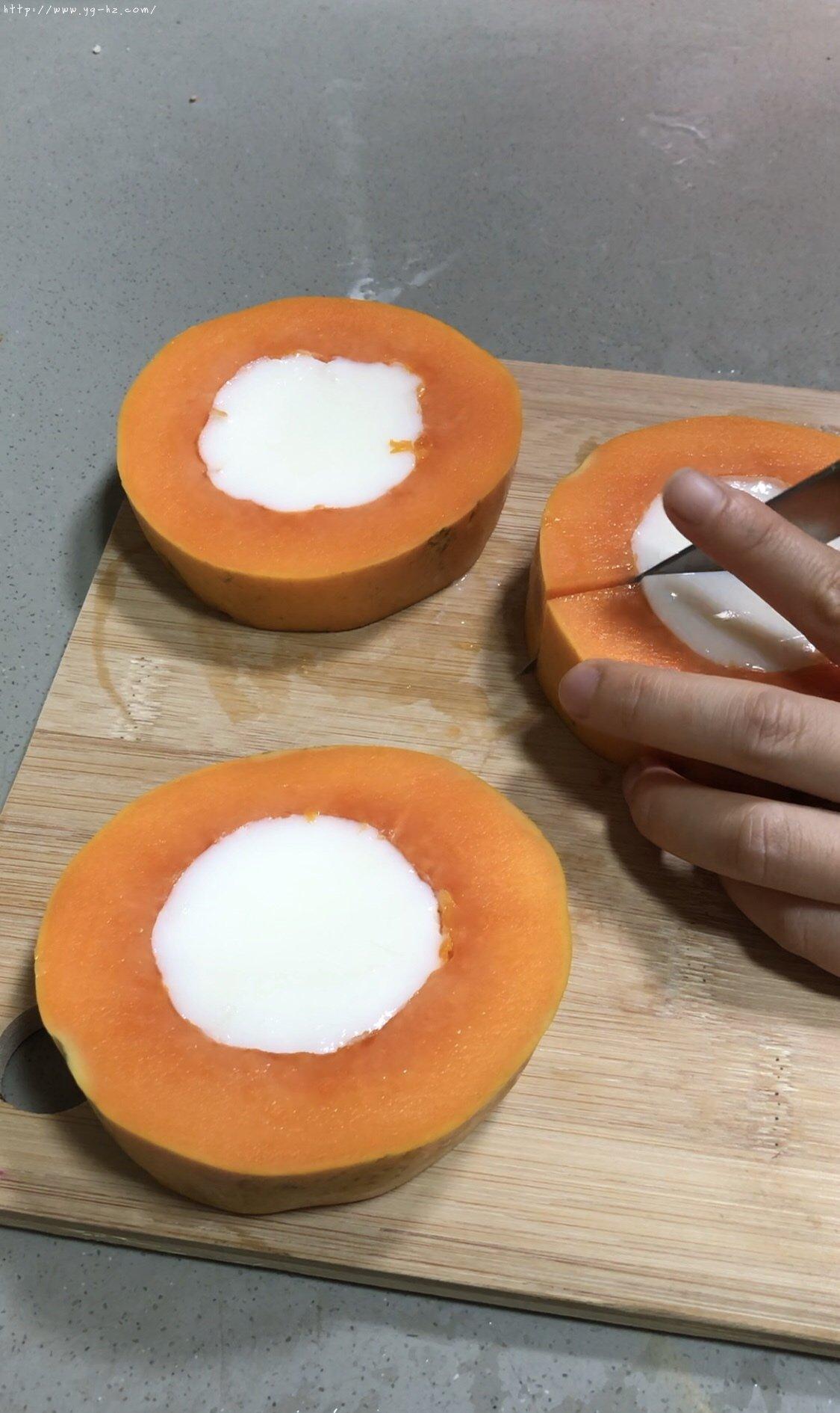 简单好吃的木瓜奶冻的做法 步骤6