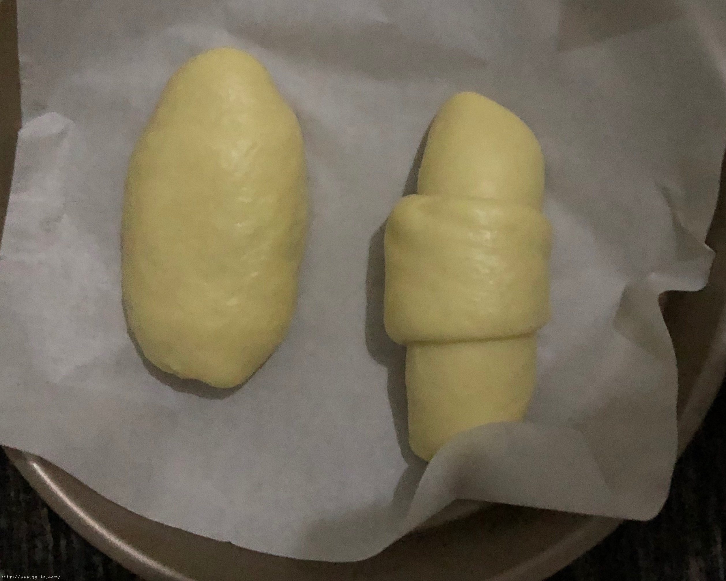 不用揉出膜的松软红豆面包的做法 步骤14