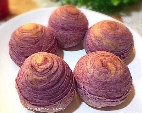 香酥千层紫薯酥(玉米油版)的做法 步骤18