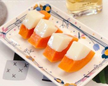 简单好吃的木瓜奶冻的做法步骤图