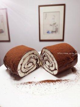 简单的千层卷,好吃到爆的巧克力毛巾卷,让烤箱休假的巧克力卷的做法步骤图