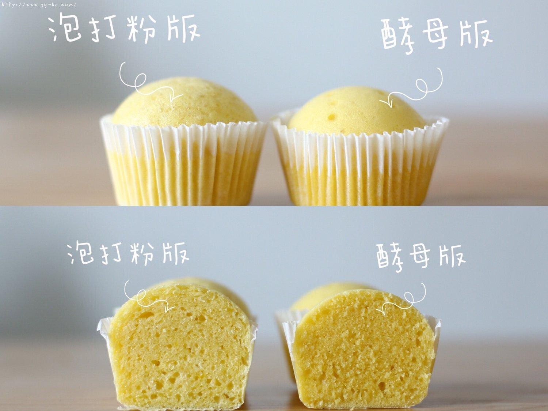蒸蛋糕,蒸发糕到底用酵母粉还是泡打粉,这里也许能找到答案。的做法