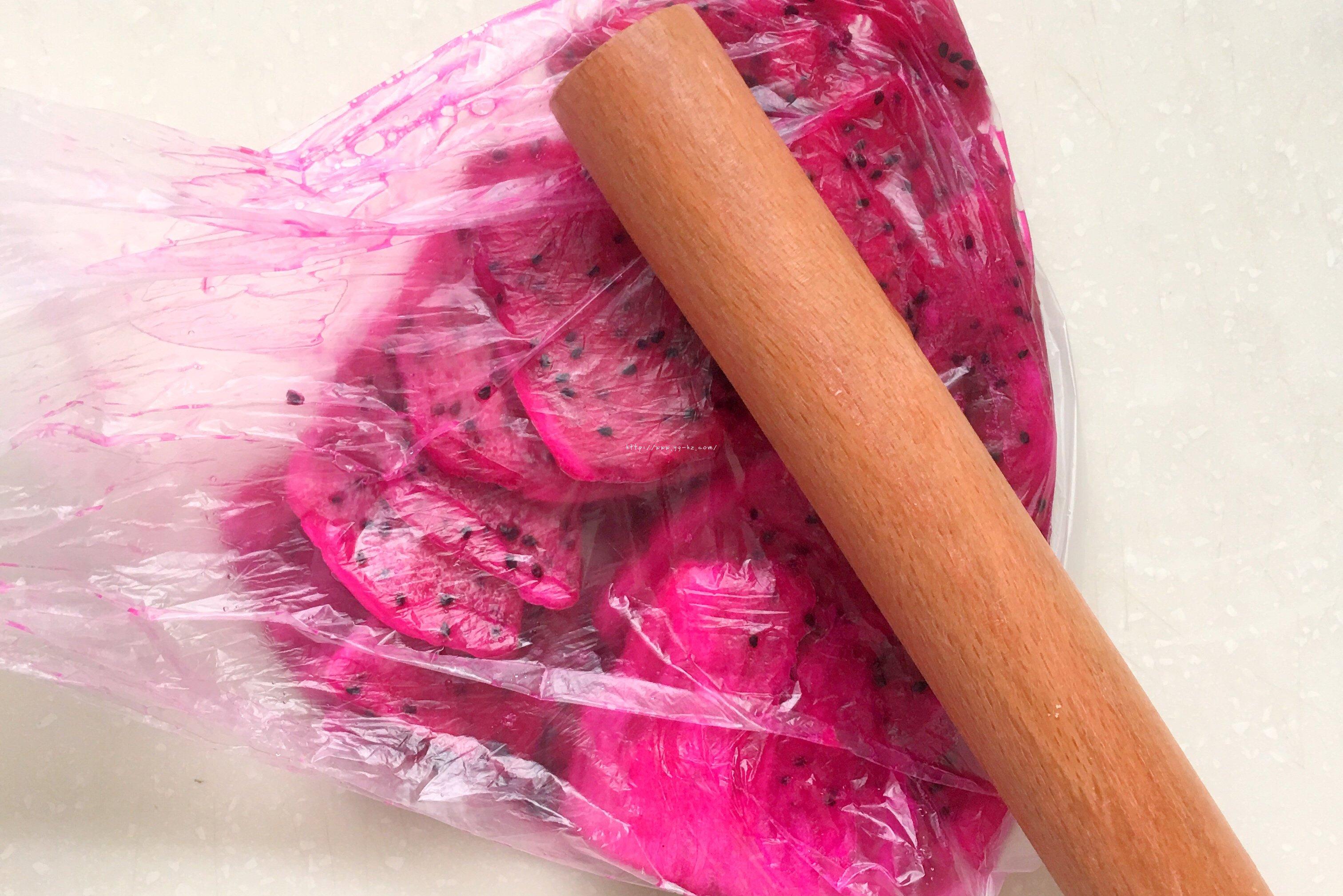 火龙果全麦坚果面包的做法 步骤1