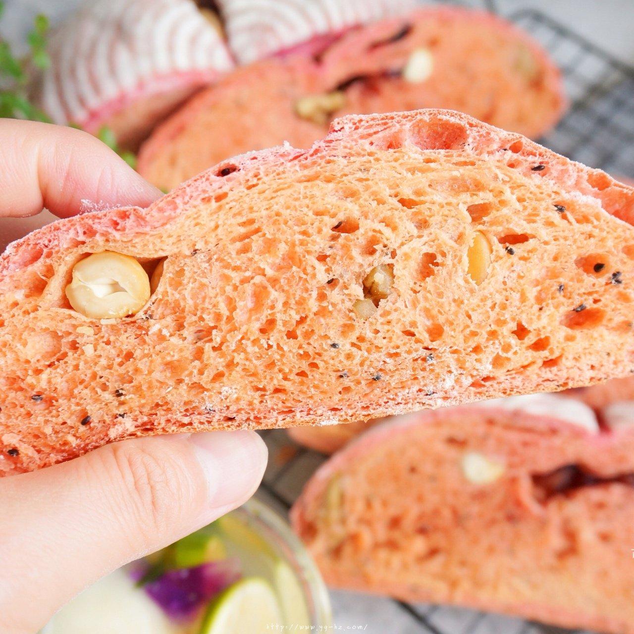 火龙果全麦坚果面包的做法 步骤16