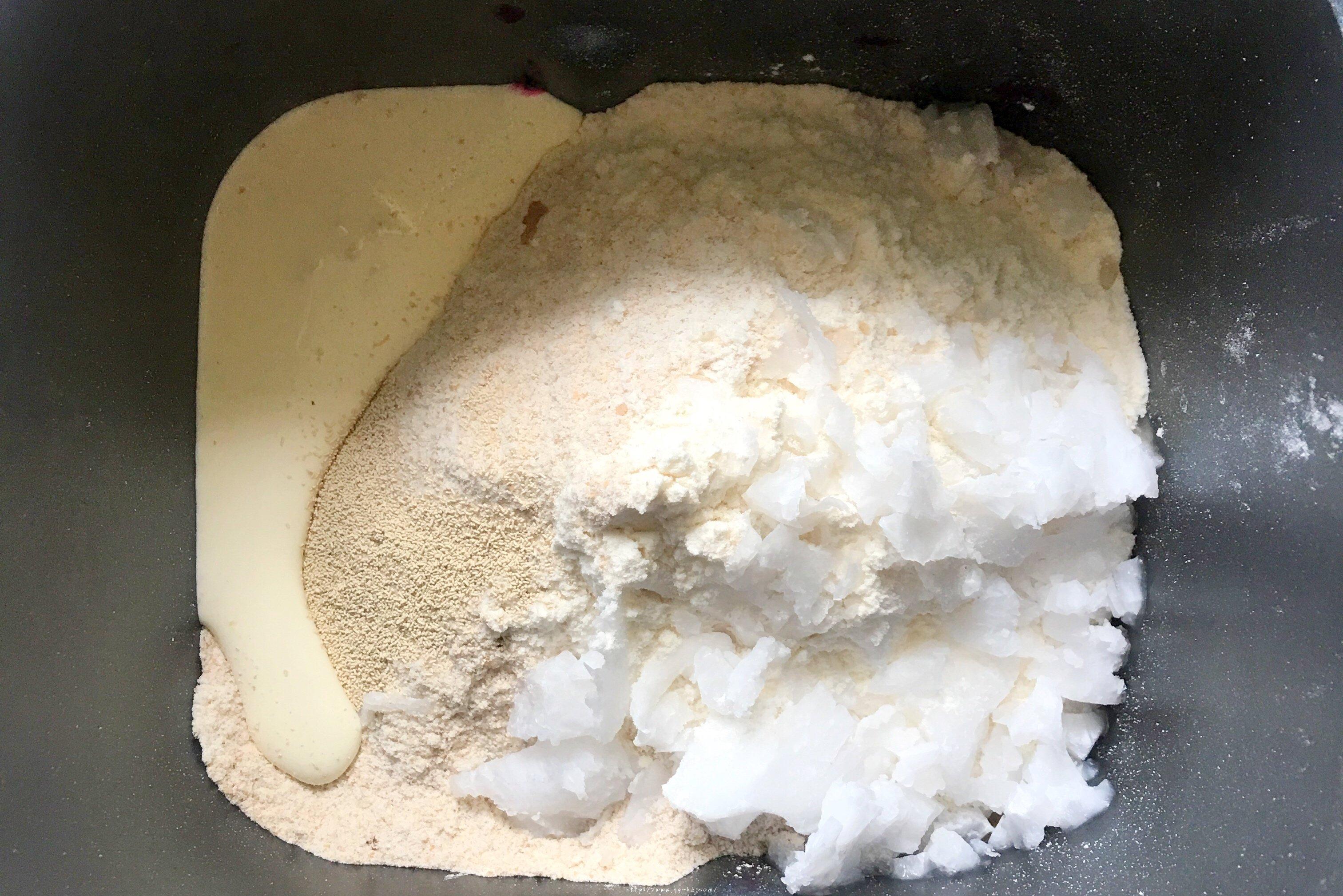 火龙果全麦坚果面包的做法 步骤2