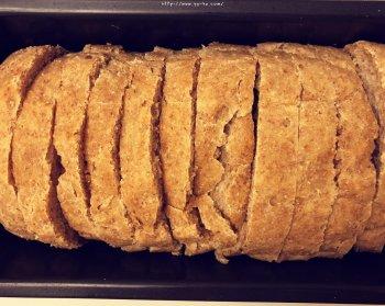 免揉100%全麦吐司-三次发酵的做法步骤图