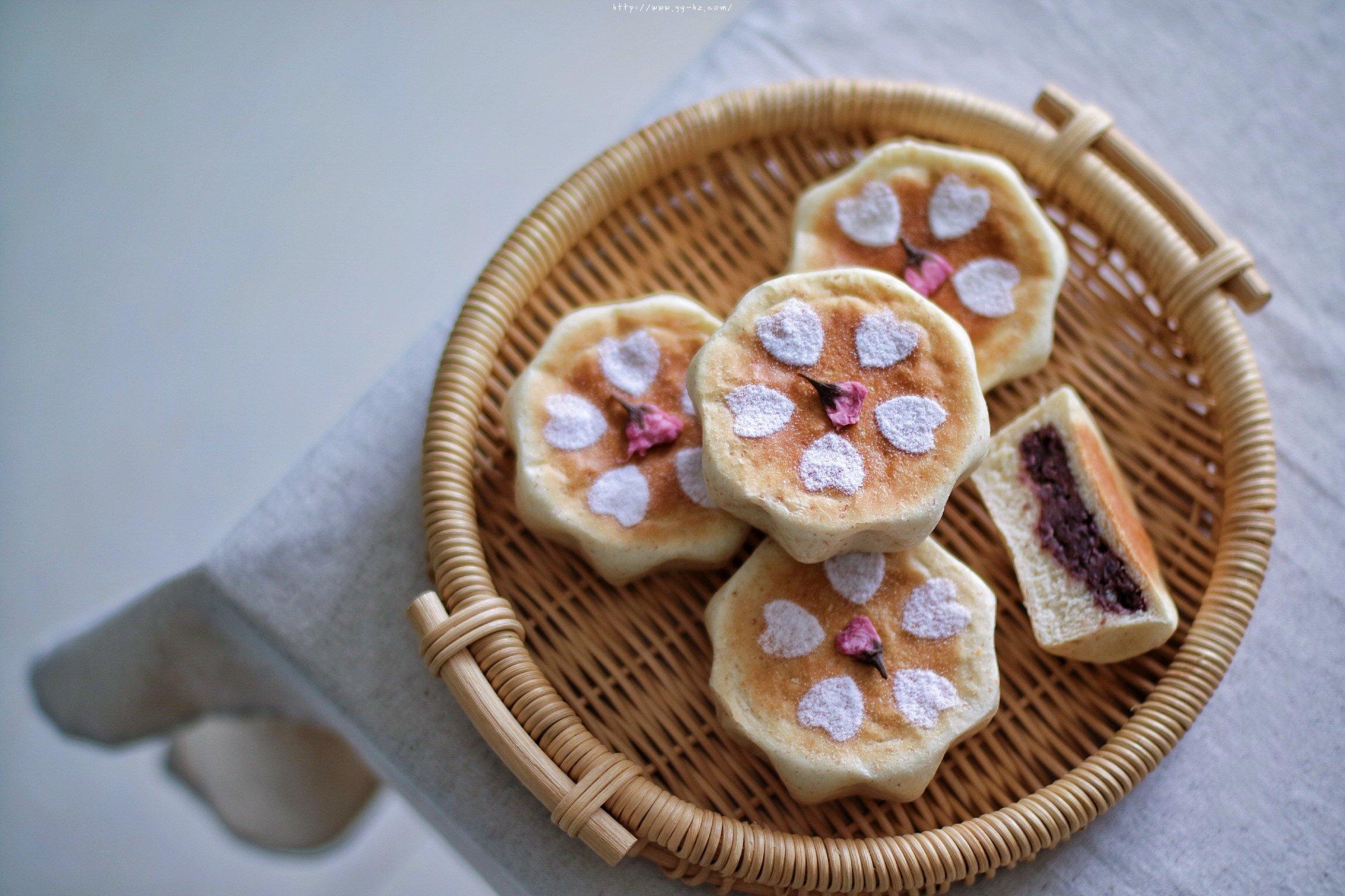 日式樱花红豆包的做法 步骤26