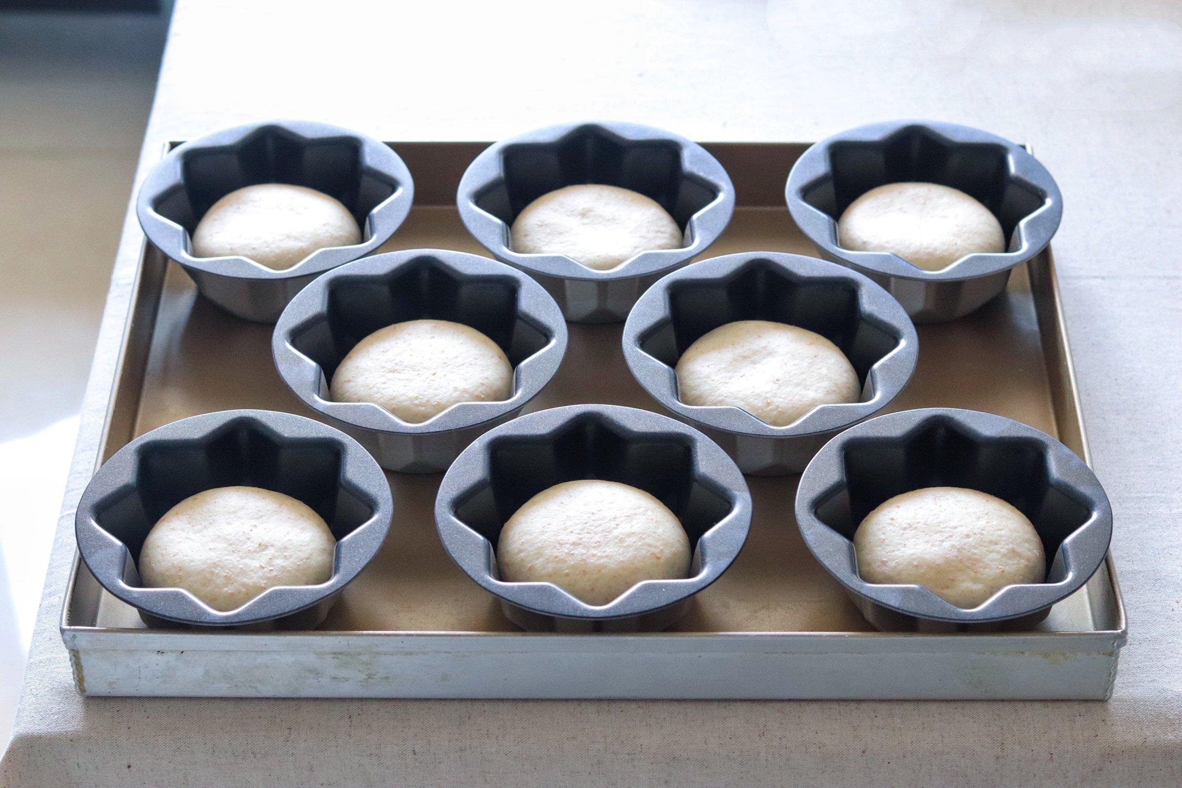 日式樱花红豆包的做法 步骤16