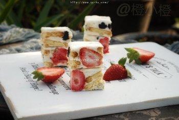 冻干草莓雪花酥的做法步