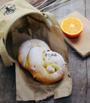 特别松软特别好吃的橙子软欧包