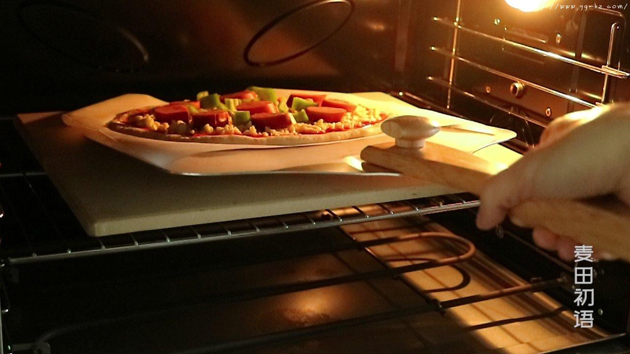 外脆里嫩的意式香肠披萨的做法 步骤35