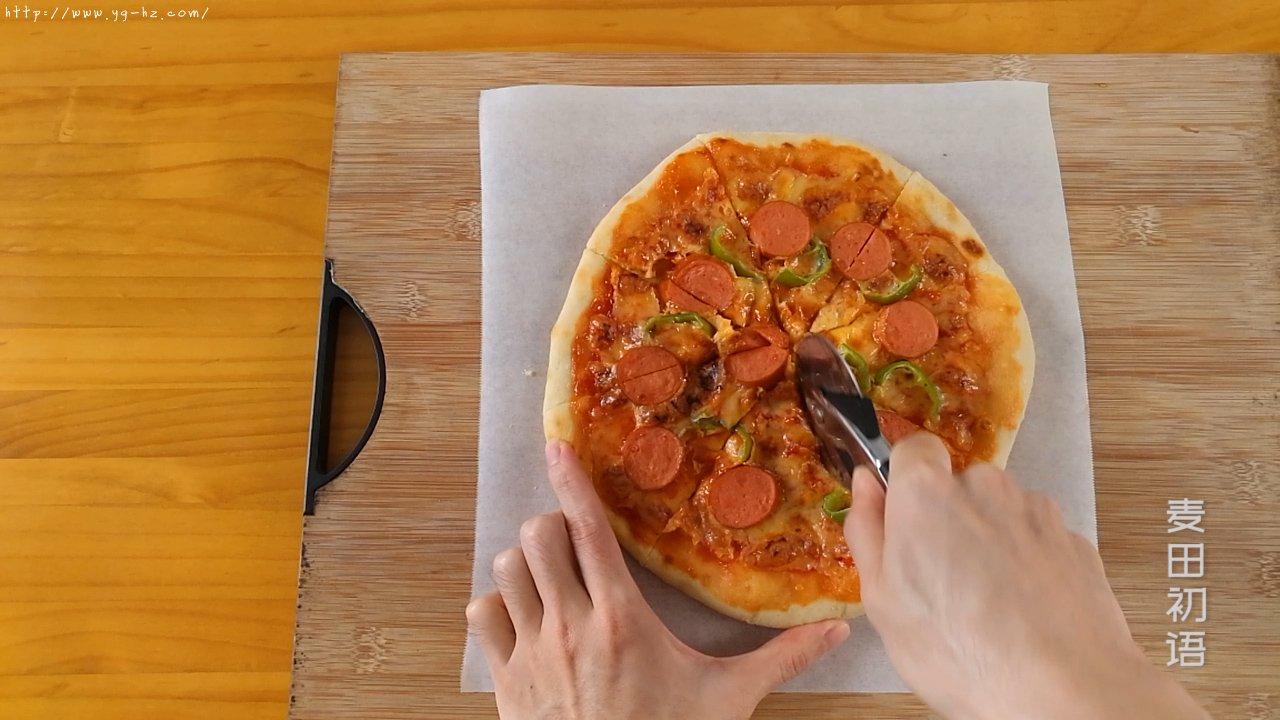 外脆里嫩的意式香肠披萨的做法 步骤40
