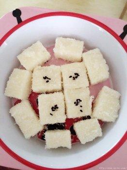 椰丝小奶方的做法步骤图,椰丝小奶方怎么做好吃