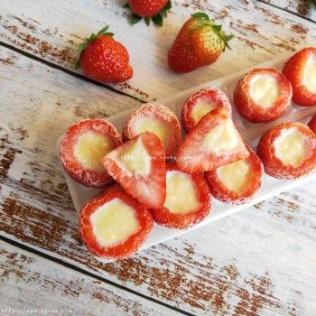 神仙草莓炼奶冰淇淋的做法步骤图