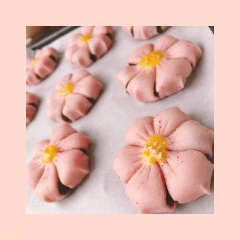 小姐的粉粉桃花酥(樱花酥)的做法步骤图