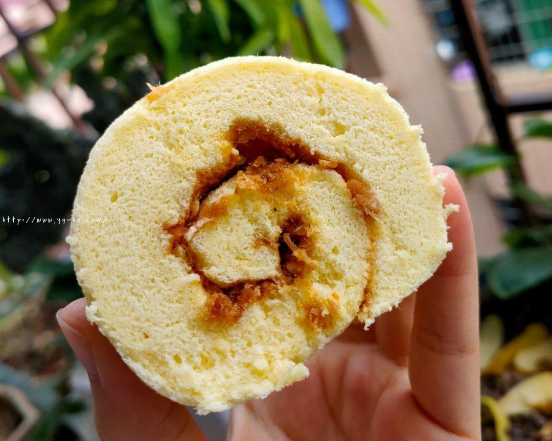 香葱肉松蛋糕卷(绝不翻车)的做法 步骤15