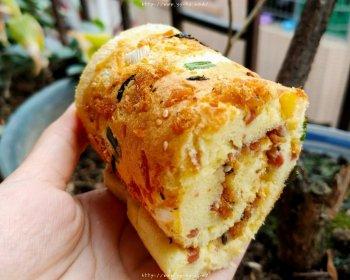 香葱肉松蛋糕卷(绝不翻