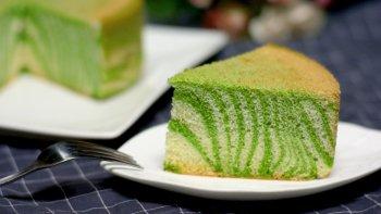菠菜戚风蛋糕——天然的绿,不塌陷不回缩的做法步骤图
