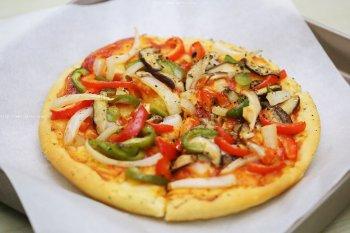 8寸无芝士版素pizza披萨的