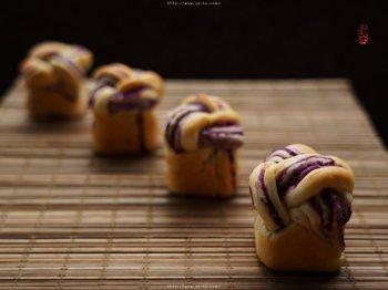 奶香紫薯面包的做法步骤
