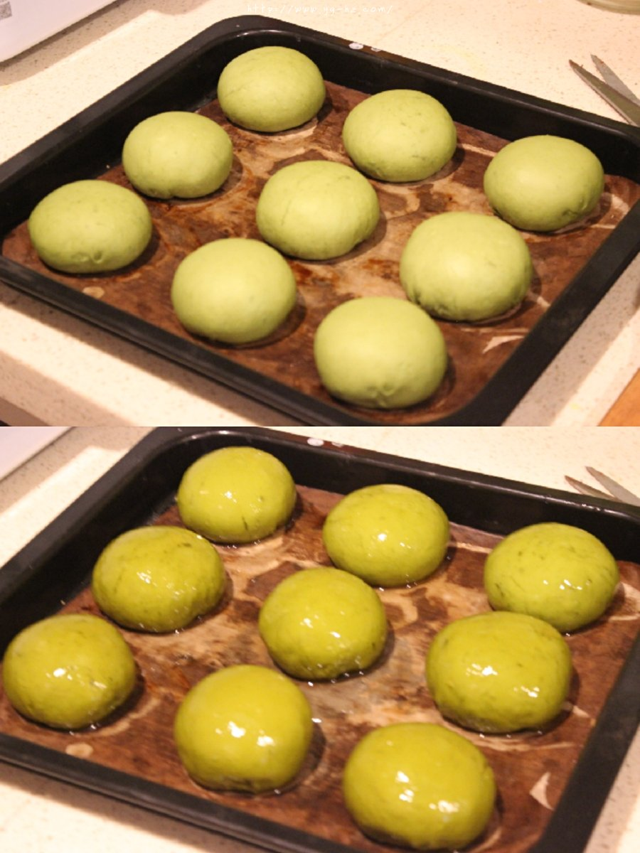 『抹茶奶酥·可可奶酥碱水球』的做法 步骤14