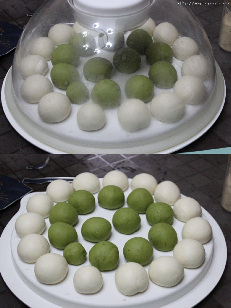 『抹茶奶酥·可可奶酥碱水球』的做法 步骤7