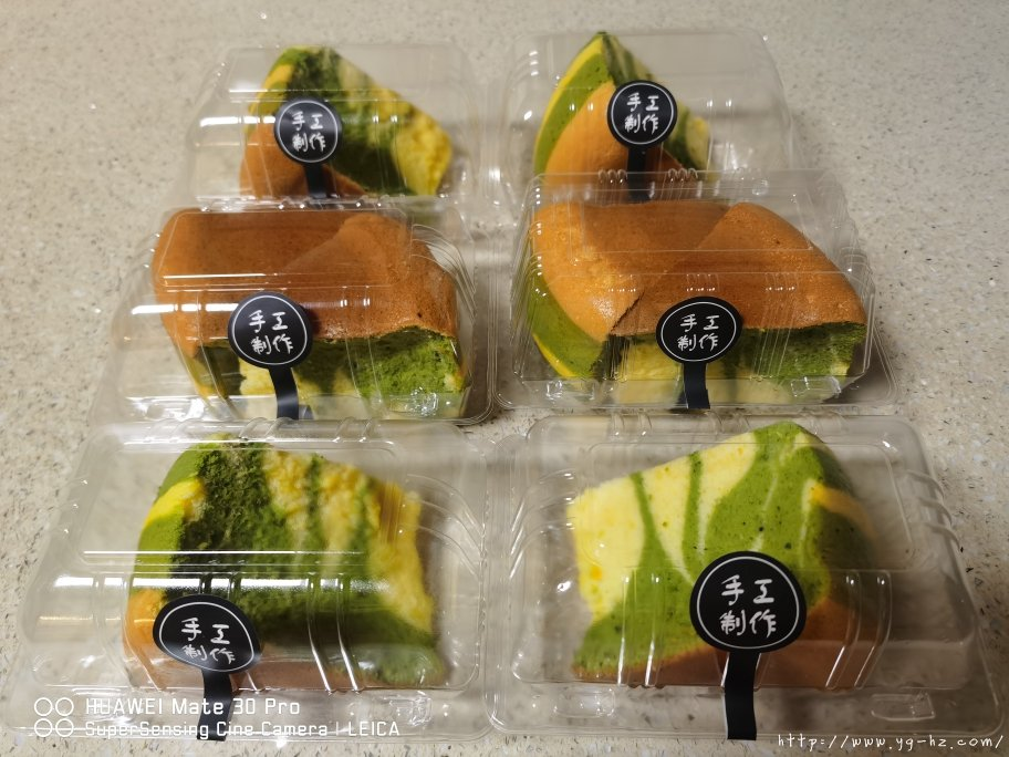 电饭锅版抹茶酸奶双色斑马纹戚风蛋糕的做法 步骤15
