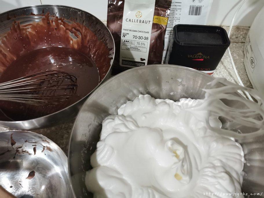 巧克力慕斯蛋糕 8寸的做法 步骤1