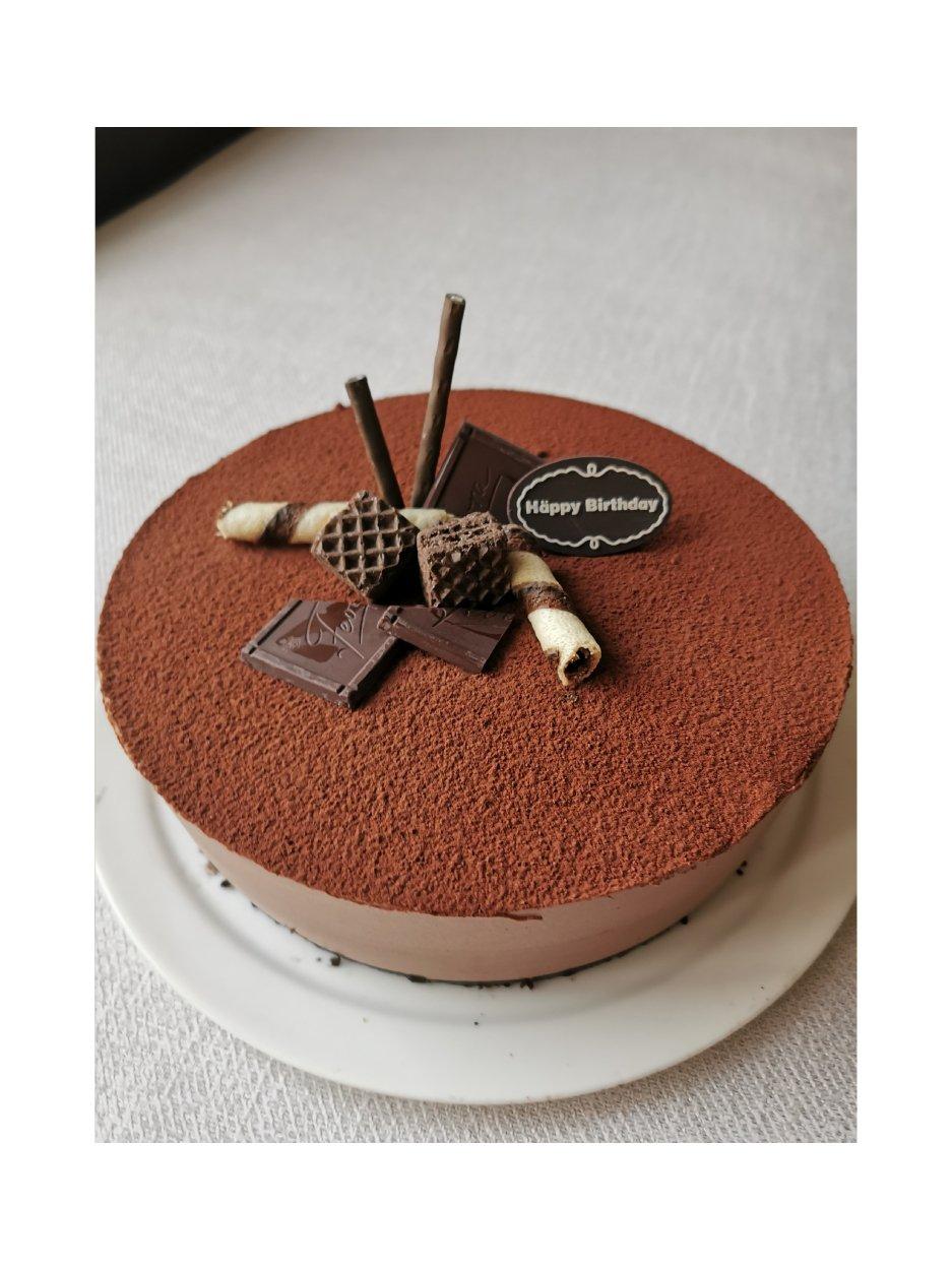巧克力慕斯蛋糕 8寸的做法 步骤7